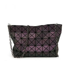 Luminous Geometric Clutch bag