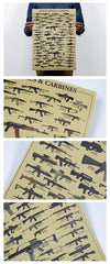 Retro Classic ASSAULT RIFLES CARBINES gun Paper Poster51 X 35 CM