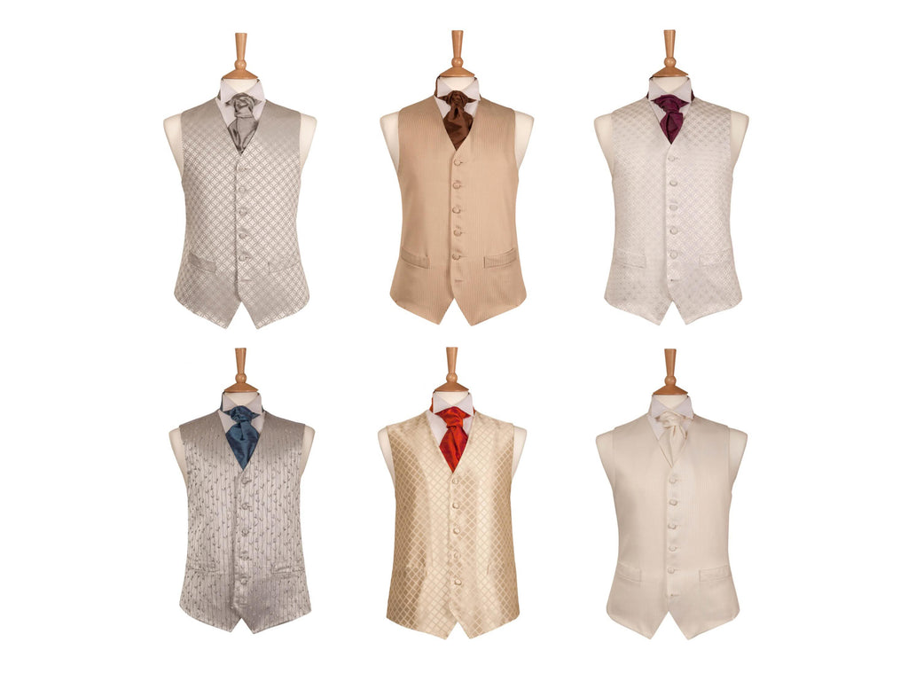 waistcoats satin shine gold hire package stratford