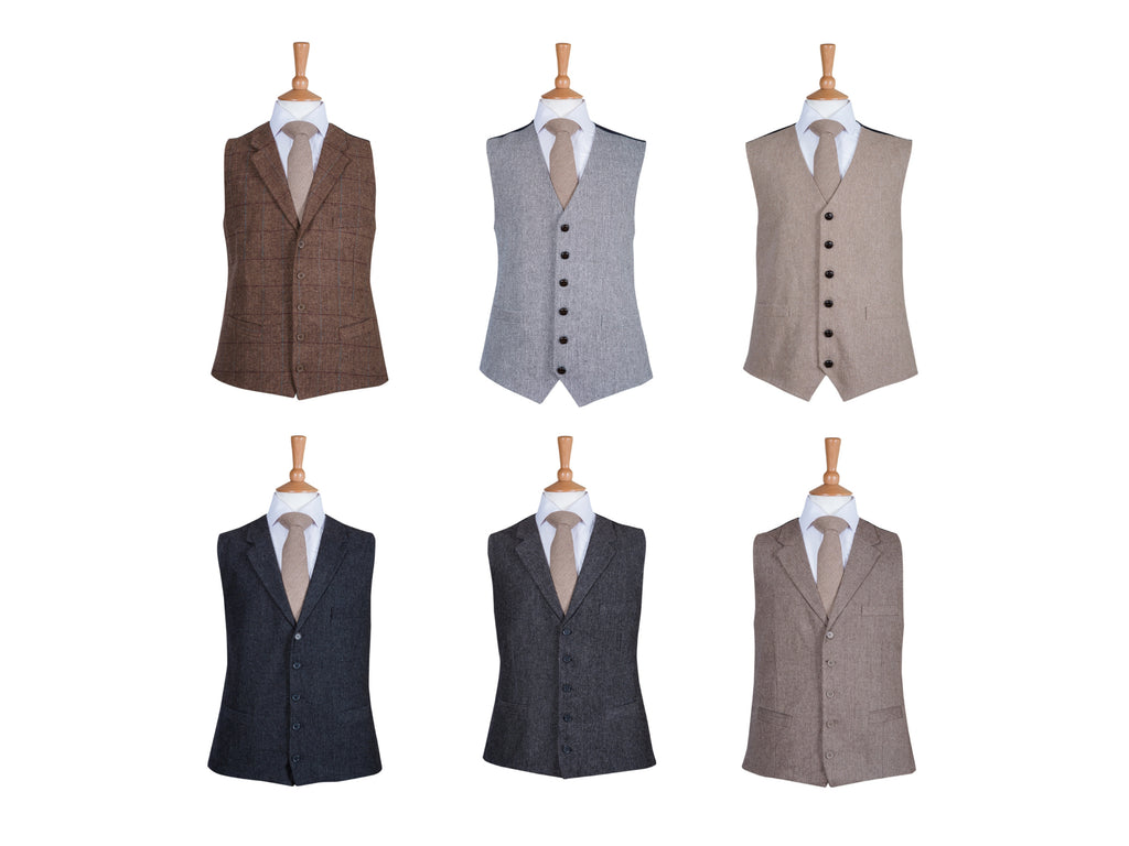 country chic trendy waistcoats to hire