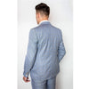 Light Blue Suit Check 3 Piece
