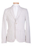 Stone Cotton Blazer Jacket