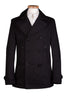 Black Mens Cotton Pea Coat