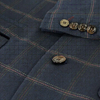 Navy Connall Suit Tweed Check 3 Piece