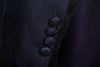 Navy Blue Swirl Pattern Prince Edward Jacket - Ex Hire