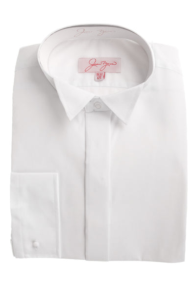 white wing collar mens formal shirt wedding event formal