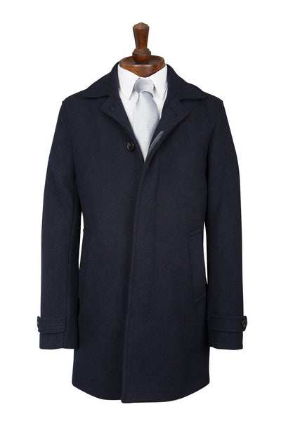 navy blue coat overcoat crombie ex high street new warm