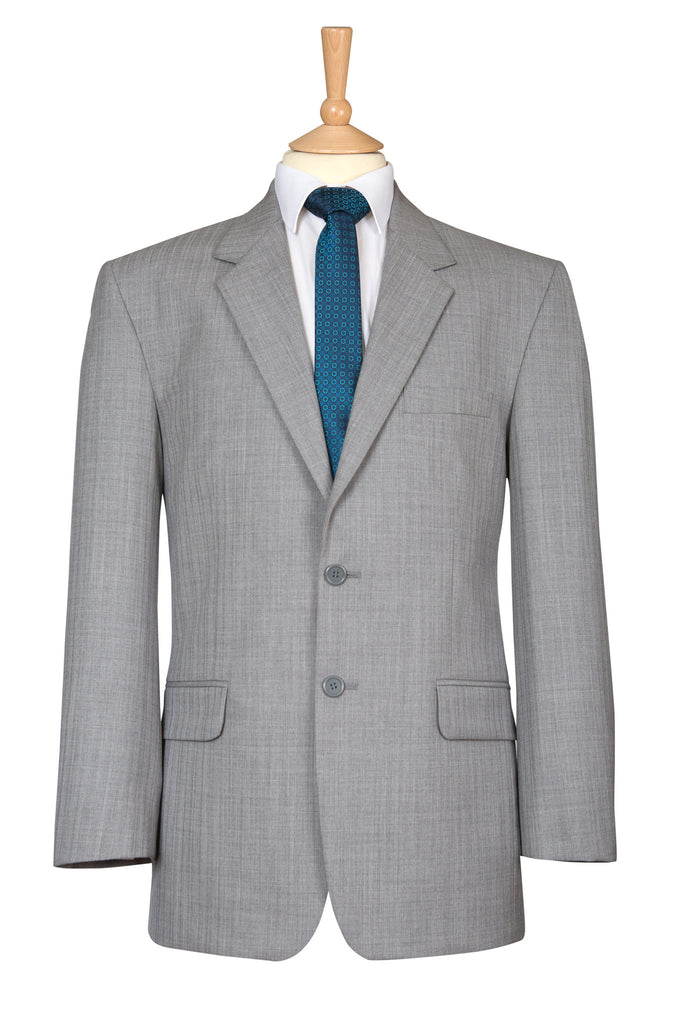 wool blazer jacket silver grey