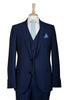 dark blue slim fit suit modern fashionable work suit