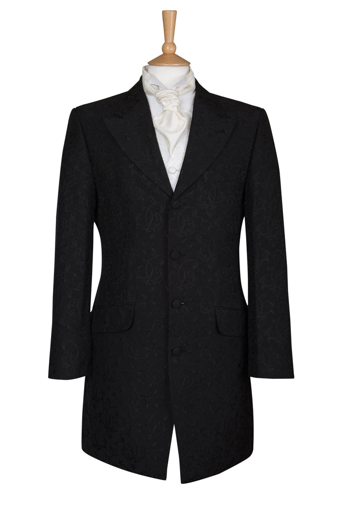 BLACK SWIRL EDWARD JACKET COAT