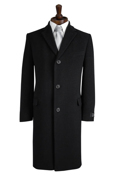 mens black overcoat coat coats crombie wool formal city stylish cashmere