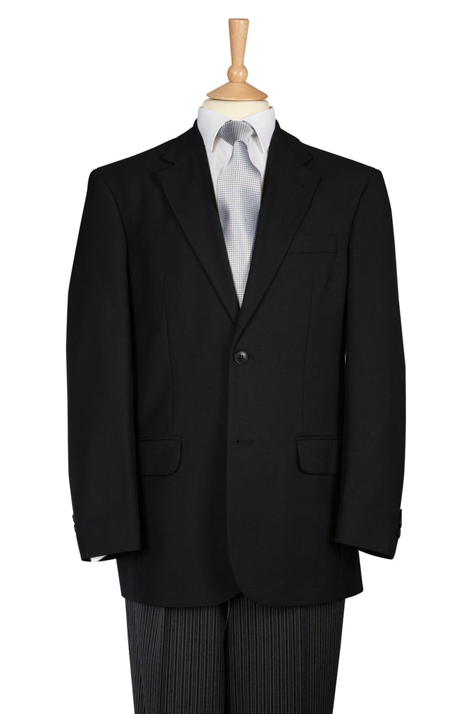 simple black two piece suit for men