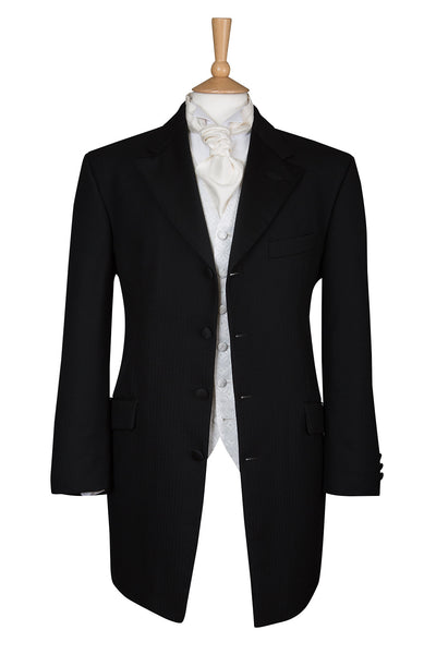 mens black prince edward jacket coat