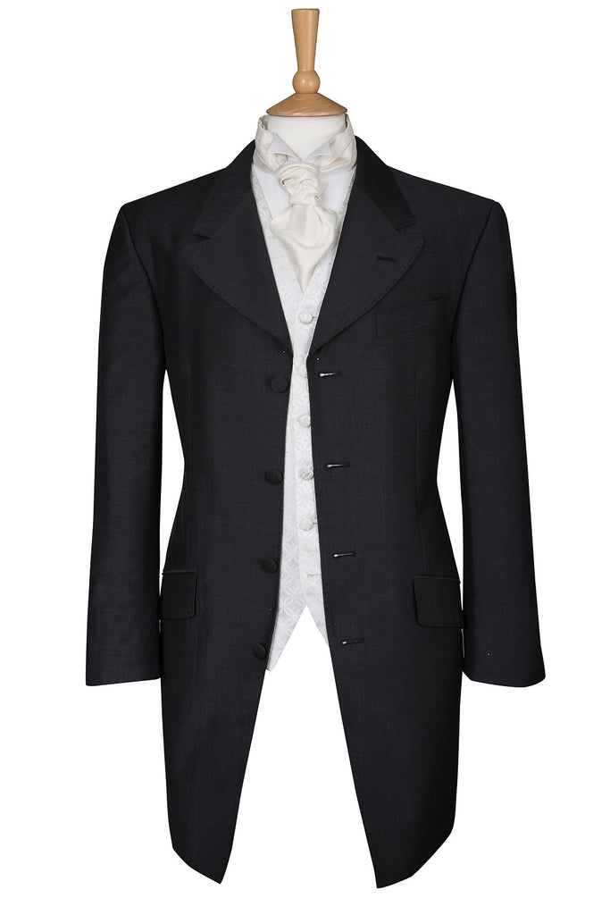 prince edward jacket ex hire bargain black mens wear