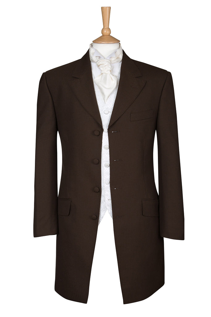 CHOCOLATE BROWN PRINCE EDWARD JACKET - EX HIRE