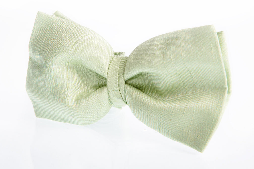 mint green bow tie light satin mens wedding formal