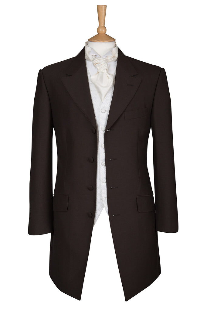 PLAIN DARK BROWN PRINCE EDWARD JACKET - EX HIRE