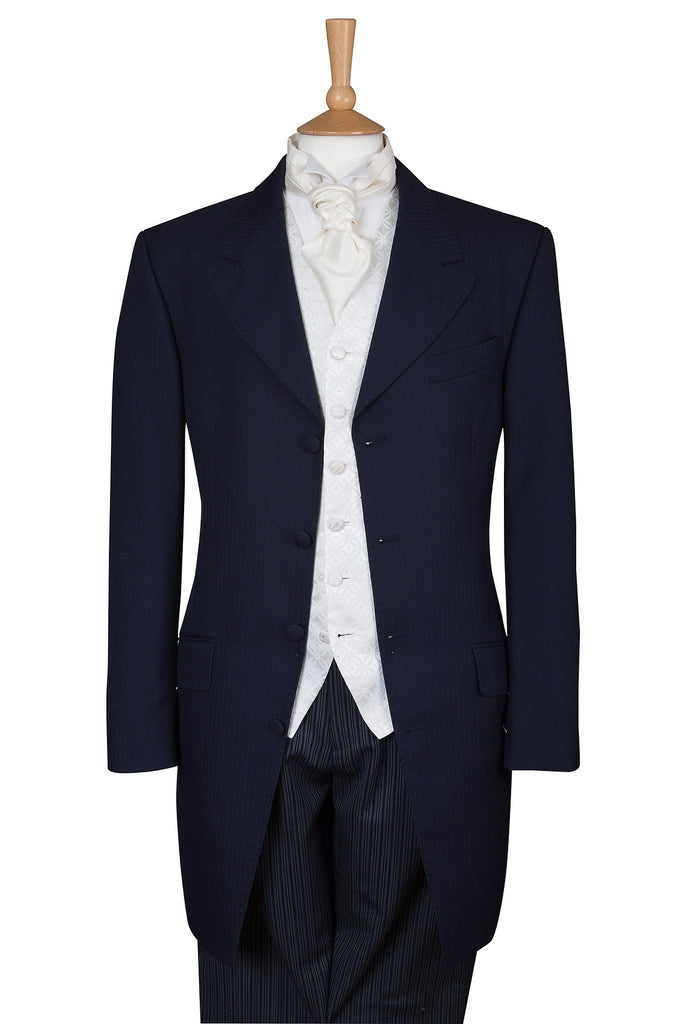 Three Piece Navy Blue Prince Edward Suit - Ex Hire