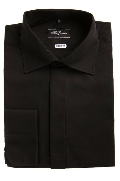 black formal mens Shirt waiter work bargain formal fancy dress