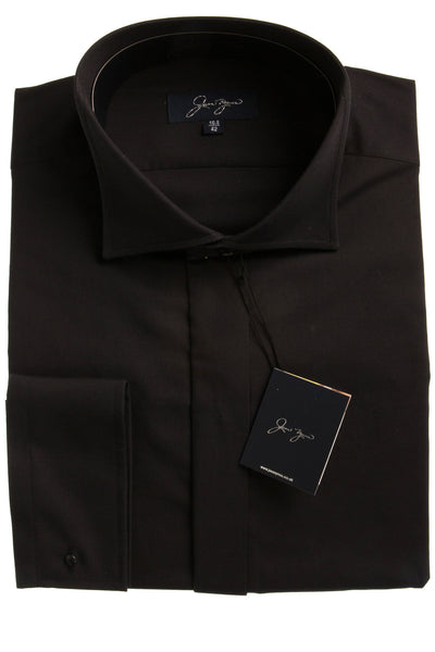 black wing collar shirt mens work casual formal waiter