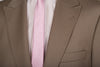Beige Pure Wool Stripe Suit