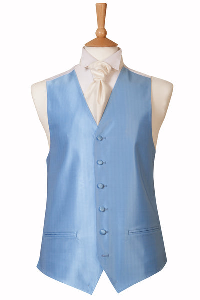 sky blue waistcoat wedding formal Occassion mens