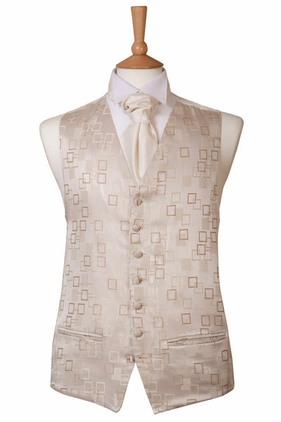 Silver Grey Patterned Waistcoat Ex Hire