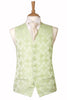 Mint Lime Green Waistcoat Cheque Design Wedding mens attire formal