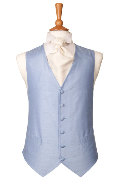 light sky baby blue waistcoat plain wedding pastel theme