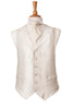 white silver pattern waistcoat wedding
