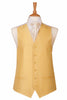 yellow sunshine daffodil waist coat formal wedding satin mens