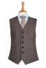 vintage country chic tweed herringbone wool wedding waistcoat
