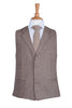 brown lapel vintage wool herringbone rustic wedding waistcoat
