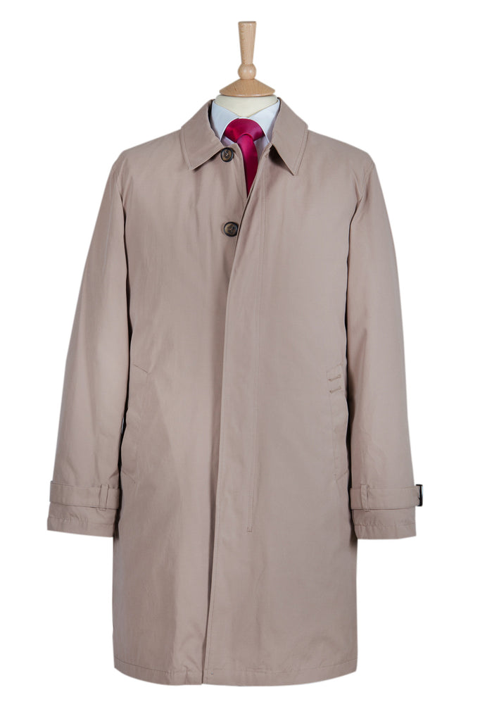 mens beige stone raincoat coat coats brown classic