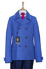 mens sky blue reefer blazer coat fashion bright summer lightweight statement