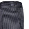 Ex Hire Black And Grey Stripe Morning Pinstripe Trousers for Royal Ascot Masonic Wear