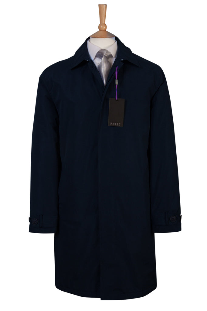 mens dark navy blue coat raincoat coat warm city style every day