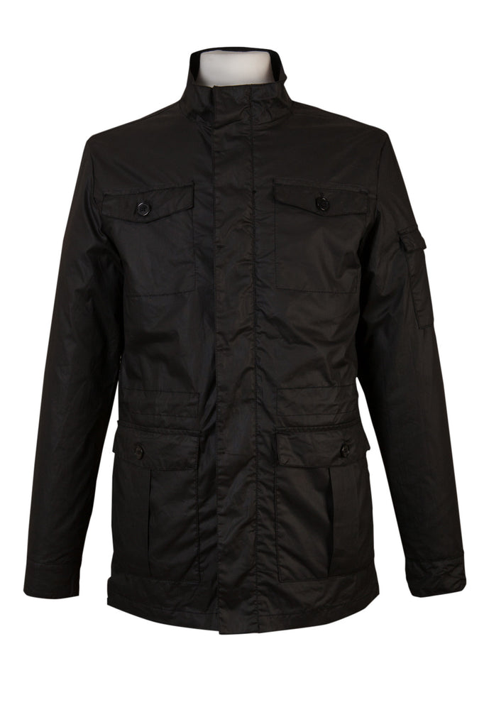 casual black utility military jacket coat mens every day fb5f619249f