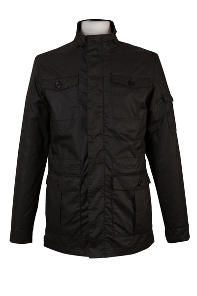 casual black utility military jacket coat mens every day