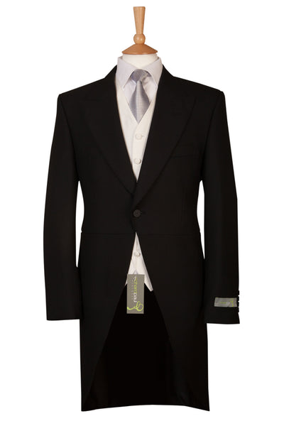 mens black tails tailcoat for ascot wedding