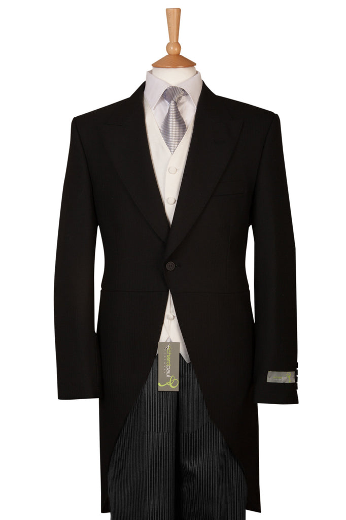 wedding black tailcoat and trousers mens formal wear