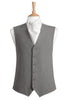 dove grey plain waistcoat mens wedding formal smart