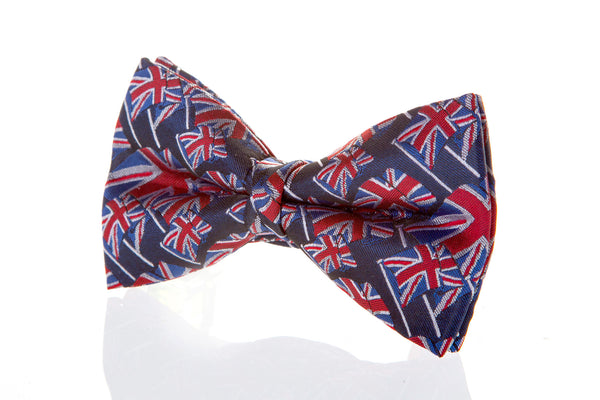 union jack bow tie mens formal