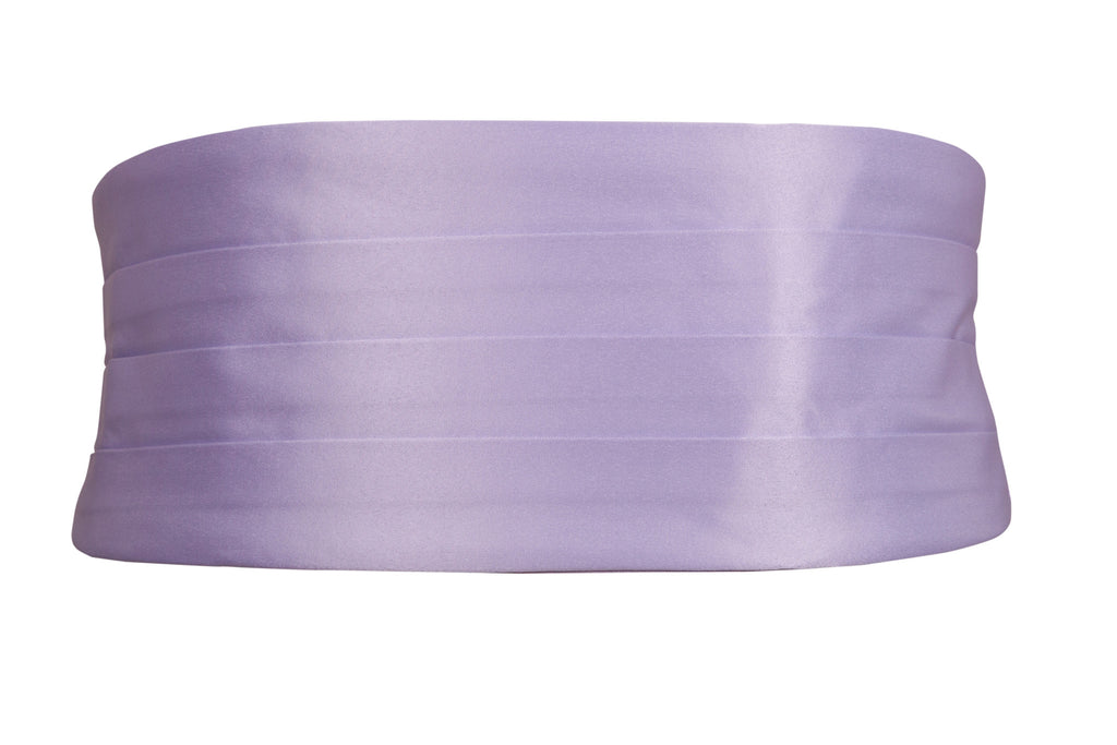 purple lilac cummerbund wedding formal event