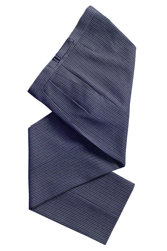 Ex Hire Navy Blue Mens Formal Trousers wedding