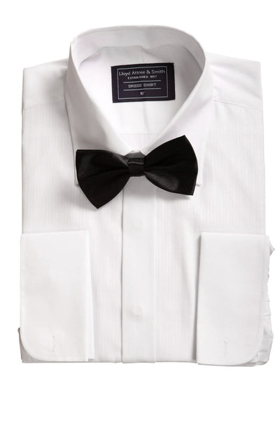 Standard Collar Classic Dress Shirt & Bow Tie Set