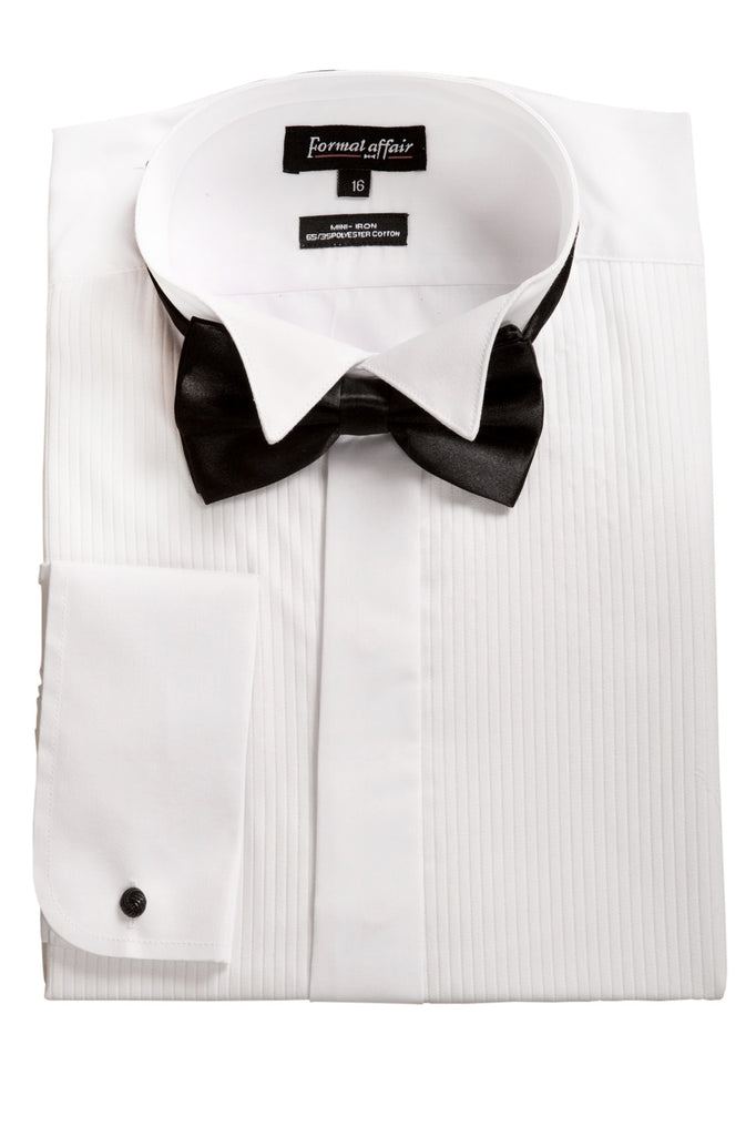 white tuxedo shirt with black bowtie mens formal