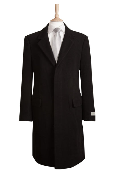 mens crombie black overcoat coat