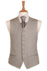 grey cheque dot waistcoat wedding mens formal silver