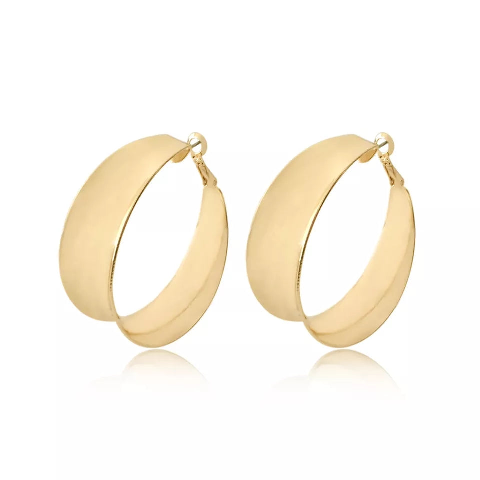 Bohemia Gold Cupped Hoops